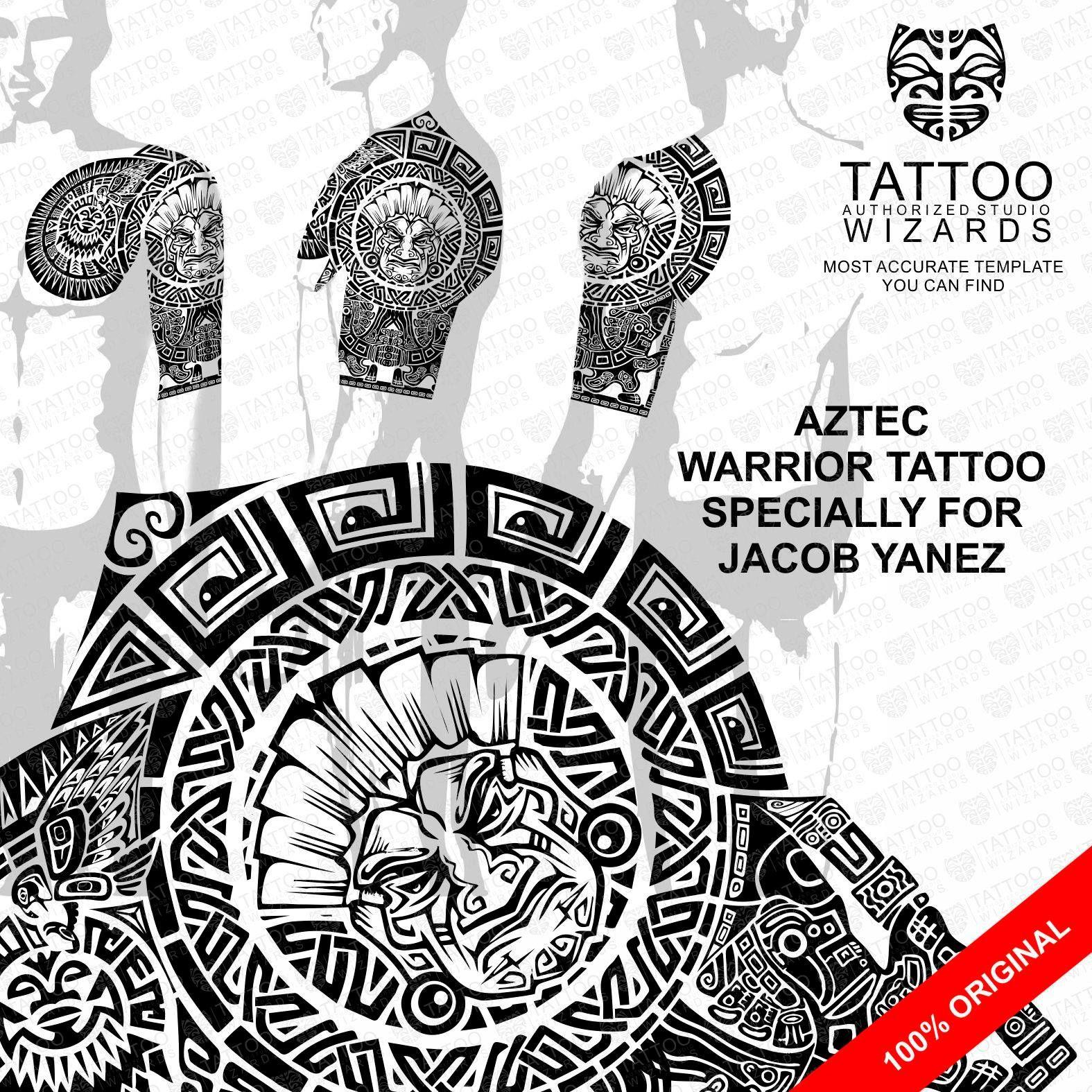 Maori Warrior Tattoo Design: Custom Tattoo, Aztec Tattoo Designs