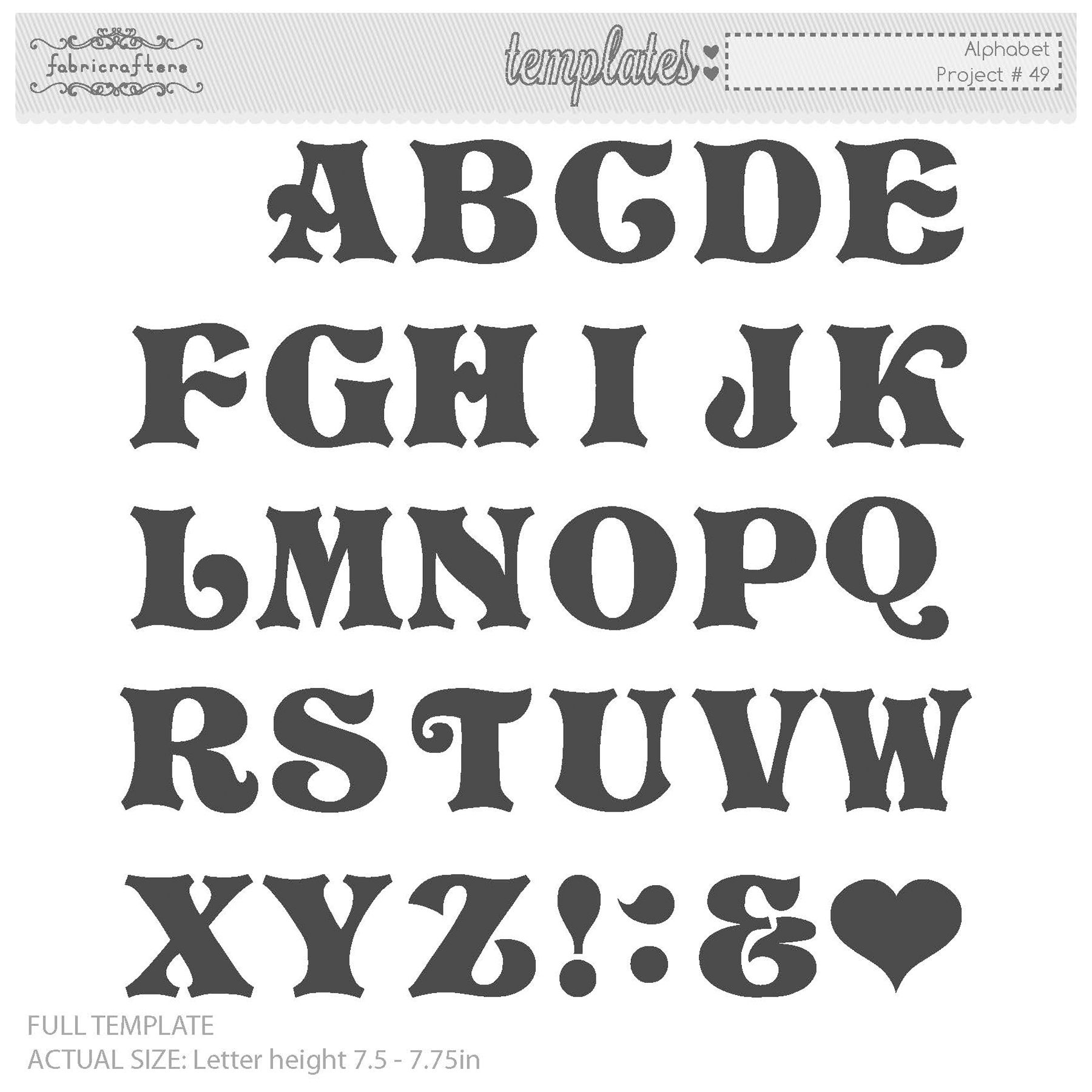 Printable Letter Stencils : Alphabet letter templates lettering fonts pinterest
