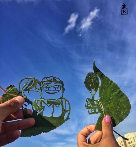 Artista faz desenhos surpreendentes em folhas que caíram das árvores | Virgula