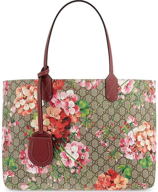 Gucci Reversible floral logo leather shopper bag  175a3208954ff