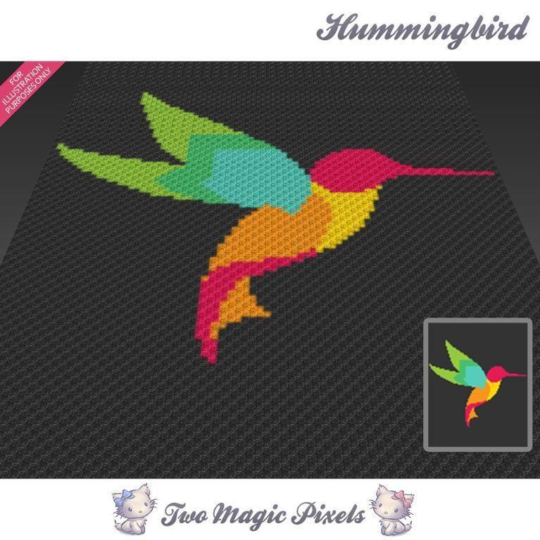 Hummingbird C2C Crochet Graph | Colibri, Patrones y De todo