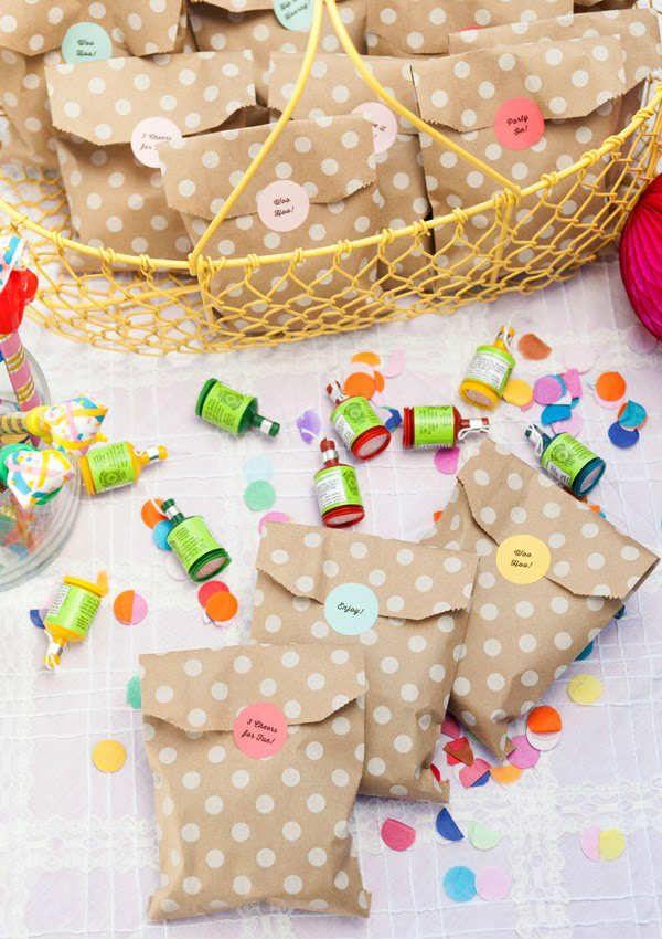 10 Kids Party Favour Ideas Tinyme Blog Confetti Birthday Party Confetti Party Kid Party Favors