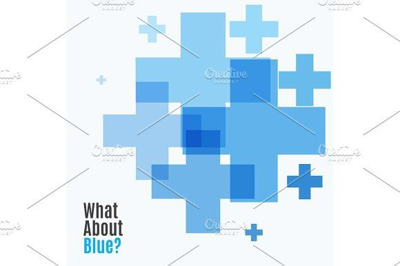 Abstract vector design elements with cross. Business Infographic