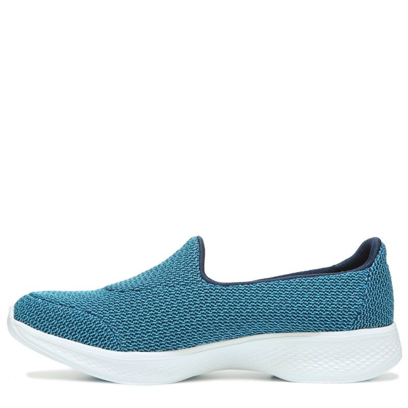 Skechers Women's GOwalk 4 Majestic Slip On Sneakers (Navy/Teal)