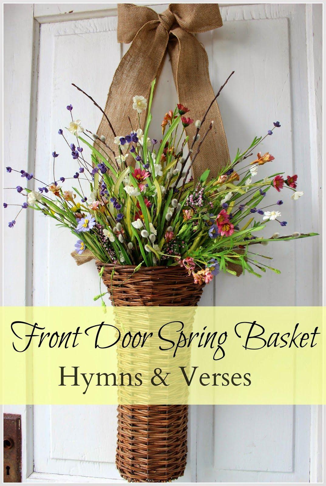 Easy Front Door Basket For Spring Spring Basket Palm Sunday