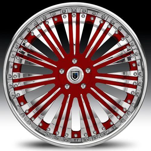 Asanti Wheels Brand   Asanti Wheels Rims AF136 20 22 24 26 inch Red Accent Chrome Face Lip