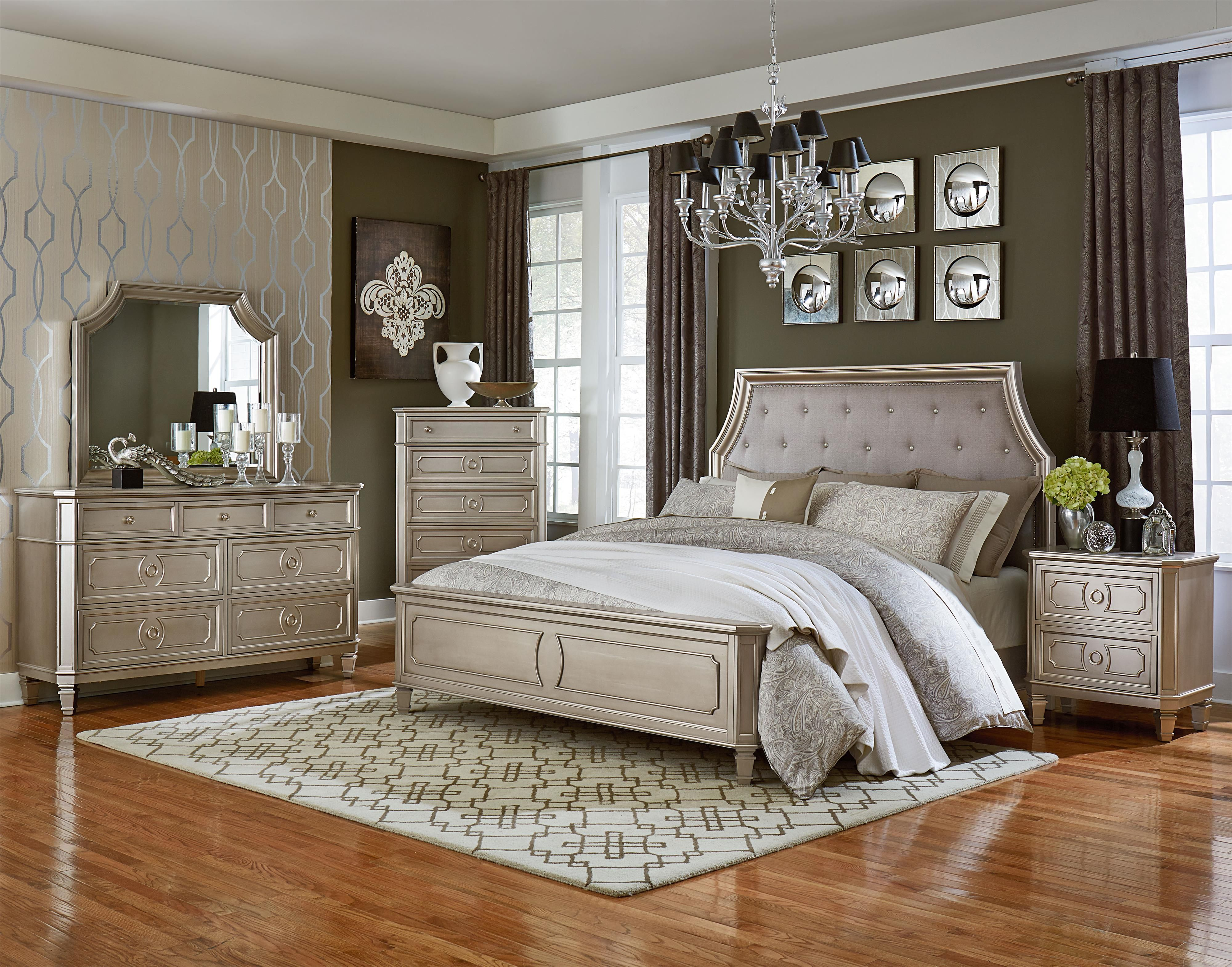 sophisticated bedroom furniture. Create A Sophisticated Bedroom With This Collection. The Rich Bourbon Brown Or Glam Silver Finish, Canted Corners And Square Turned Feet Give It Classic Furniture