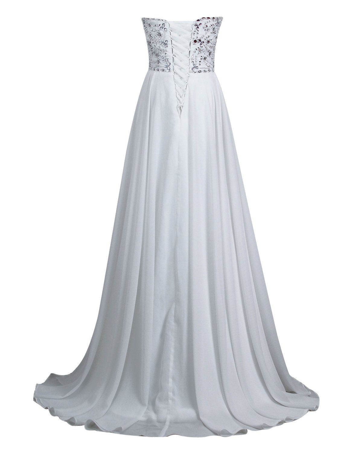 09589bd2137fd Favors Dress Womens Sweetheart Beach Wedding Dress Bead Bridal Gown Empire  White 6 ** Learn