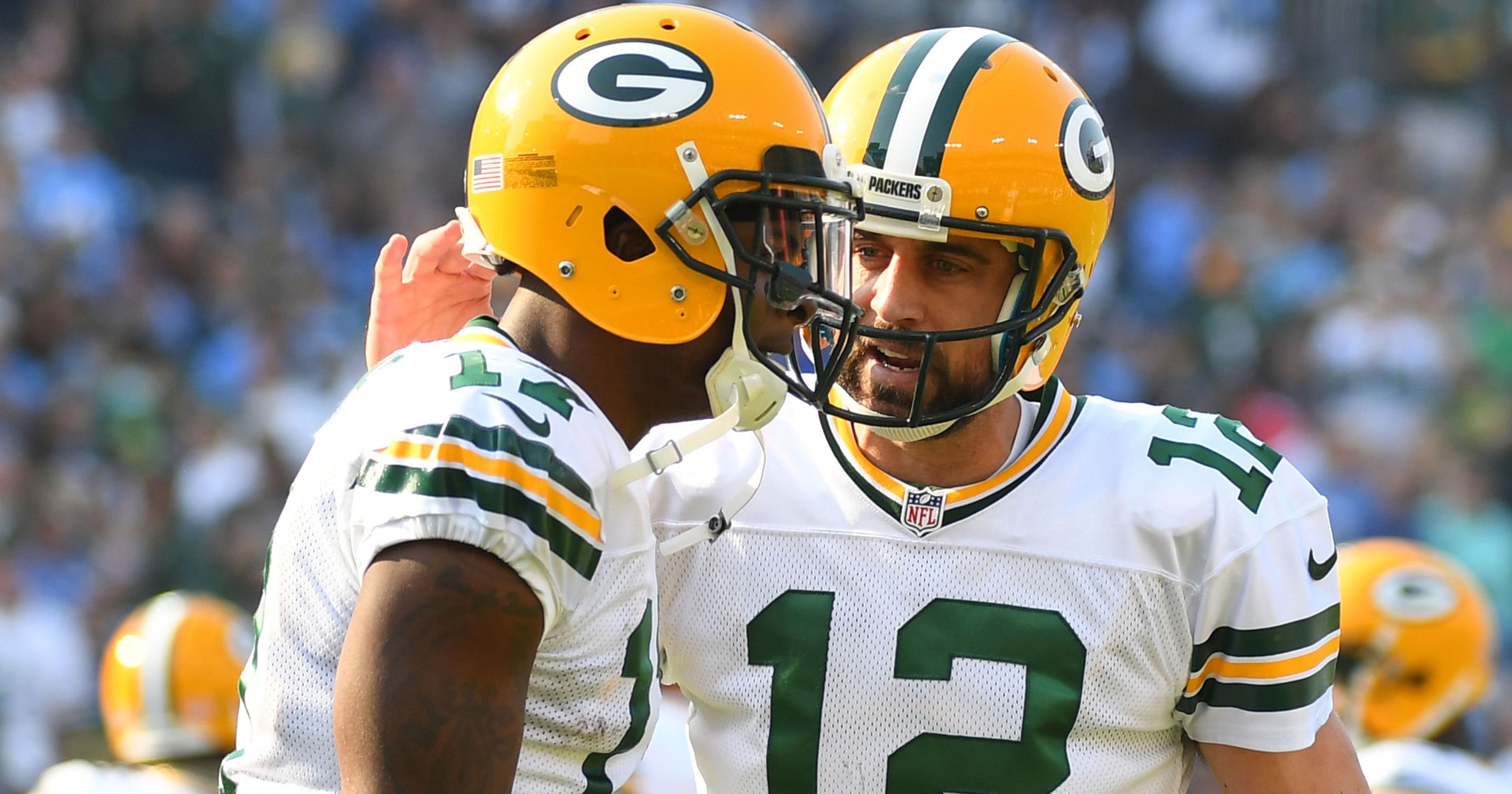 Aaron Rodgers Happily Reacts To Davante Adams Extension Aaron Rodgers Happily Aaron