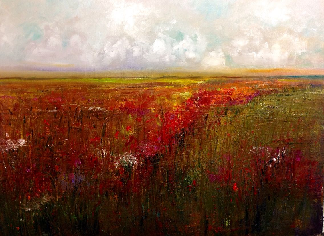 #paletteknife Oil on Canvas Lindy Wiese