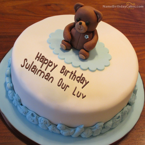 I have written sulaiman our luv Name on Cakes and Wishes on this