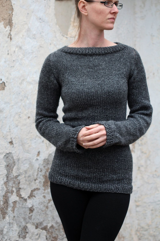 Knit Sweater Knitting Pattern Great beginner sweater