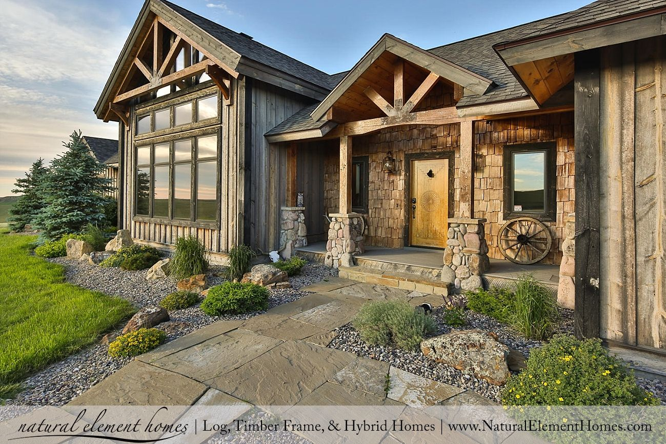 Plan Of The Week Shamrock Ranch Natural Element Homes Like This Exterior Tweaked For Luckyman Rustic House Plans Timber Frame Home Plans Montana Homes