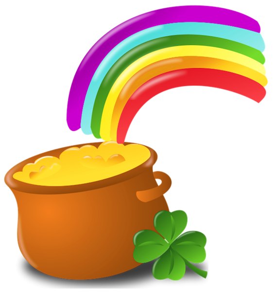 St Patrick Pot Of Gold With Rainbow Png Picture Rainbow Png Pot Of Gold St Patrick