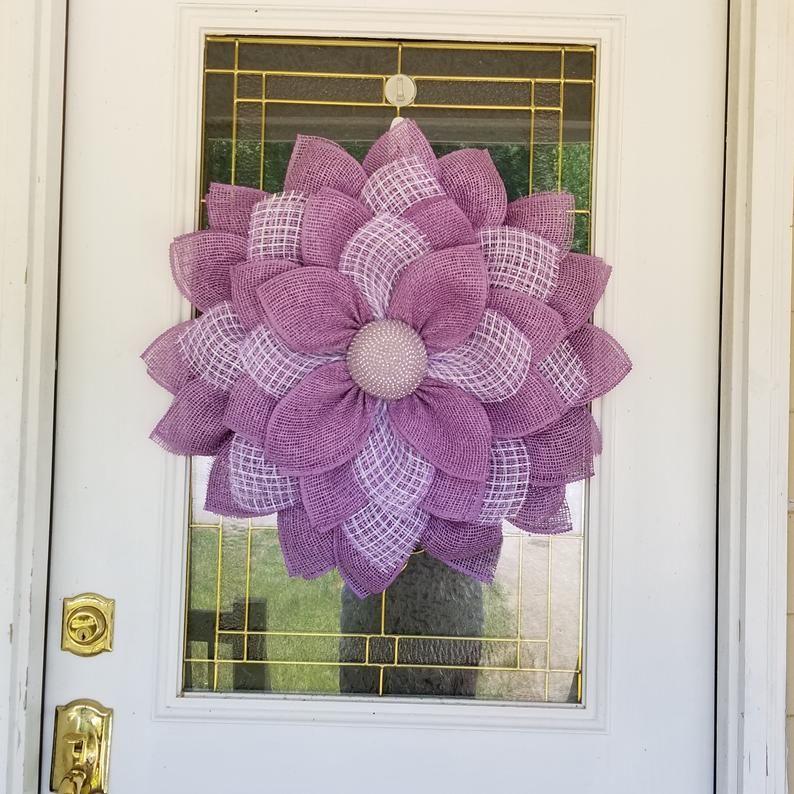 Photo of Front door decor, Sunflower Wreath, Nursing home decor, Summer Wreath