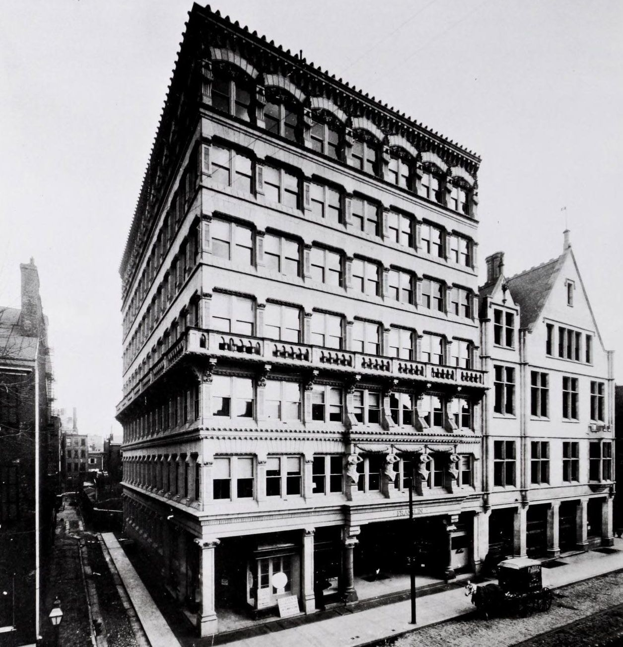 ARCHI/MAPS: Frank Furness, Philadelphia, PA Franklin Bldg.; Early new forms in Architecture