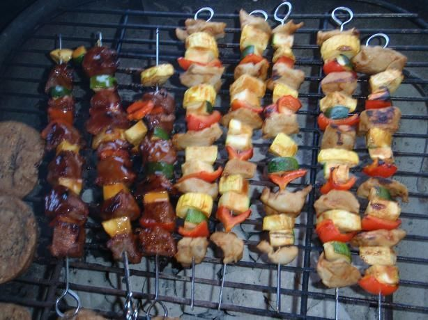 Shish Kabob Marinade #chickenkabobmarinade Shish Kabob Marinade from Food.com:   								I got this recipe from a friend of mine. It is so easy to make and works for chicken, pork, beef or venison. Cook time is marinating time. #chickenkabobmarinade Shish Kabob Marinade #chickenkabobmarinade Shish Kabob Marinade from Food.com:   								I got this recipe from a friend of mine. It is so easy to make and works for chicken, pork, beef or venison. Cook time is marinating time. #chickenkabobmarinade