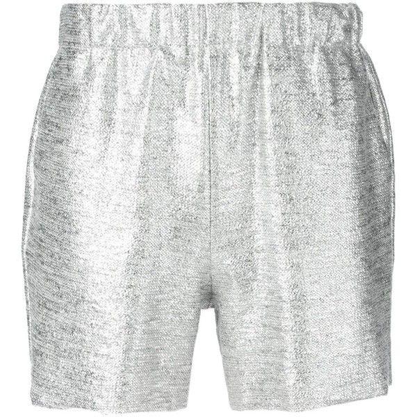 Samuji Simi Shorts (£68) ❤ liked on Polyvore featuring shorts, metallic and metallic shorts