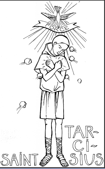 St Tarcissius Catholic Coloring Page Coloriage Saint