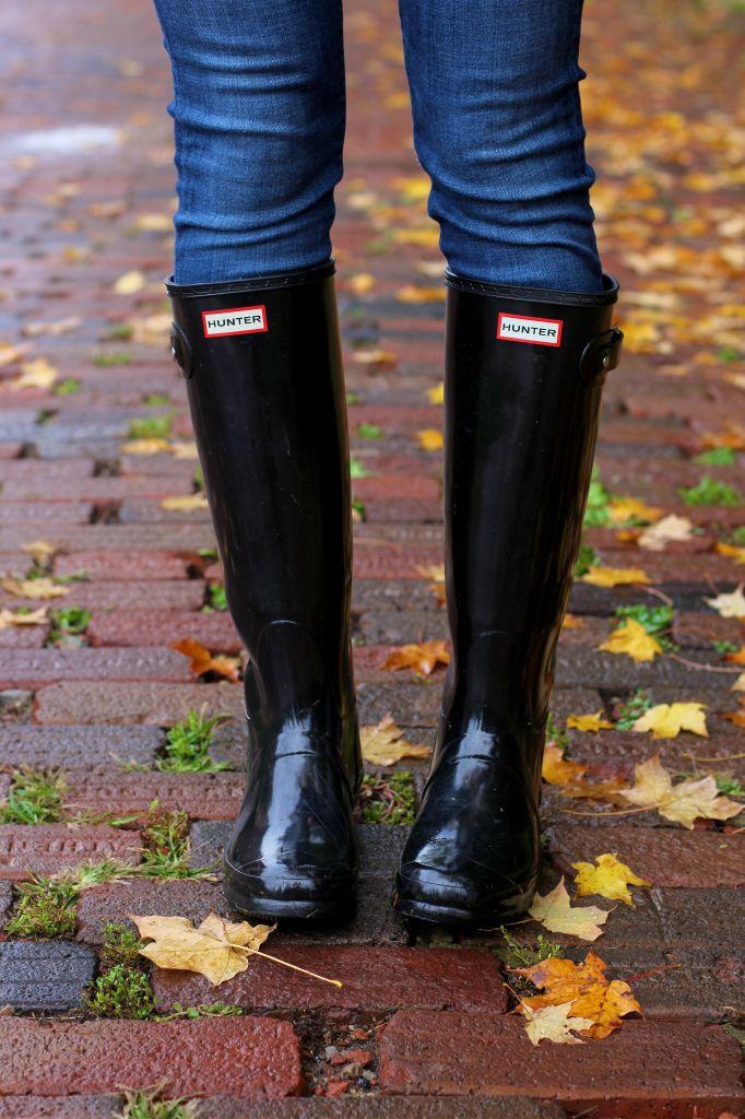 Black hunter boots, Hunter boots, Black