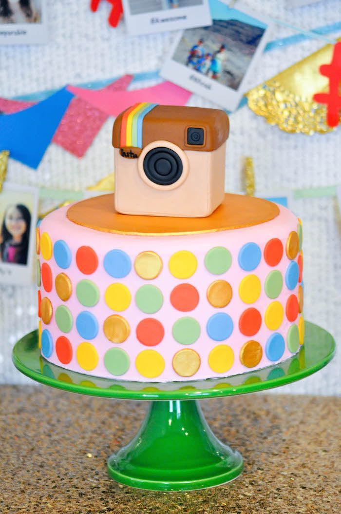 Cake Ideas For A 13th Birthday Party : Glam Instagram Themed 13th Birthday Party 13th birthday ...