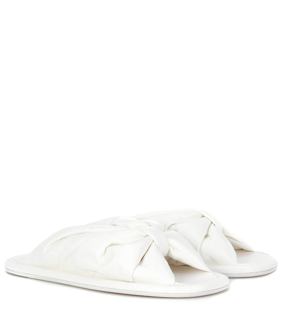 3e12a3bb3ccda BALENCIAGA Leather slip-on sandals.  balenciaga  shoes  current week ...