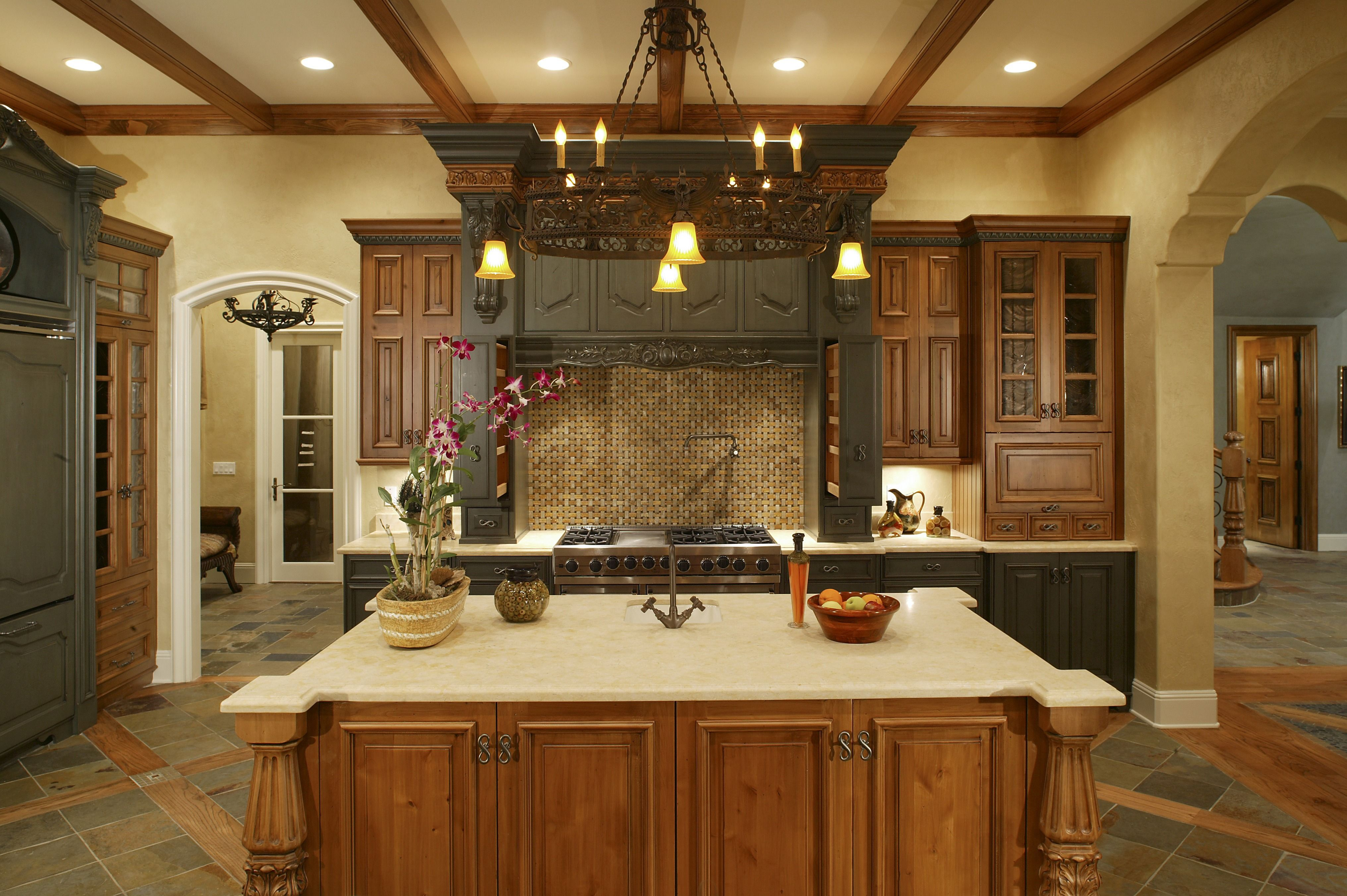 this traditional style kitchen is anything but boring the