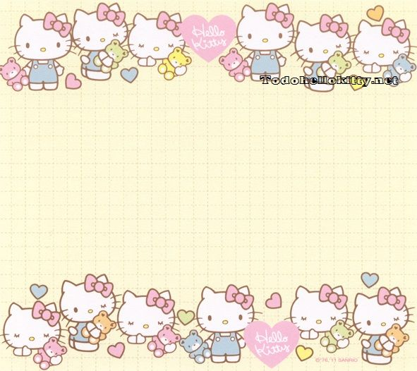 Papeles de carta de Hello Kitty para imprimir