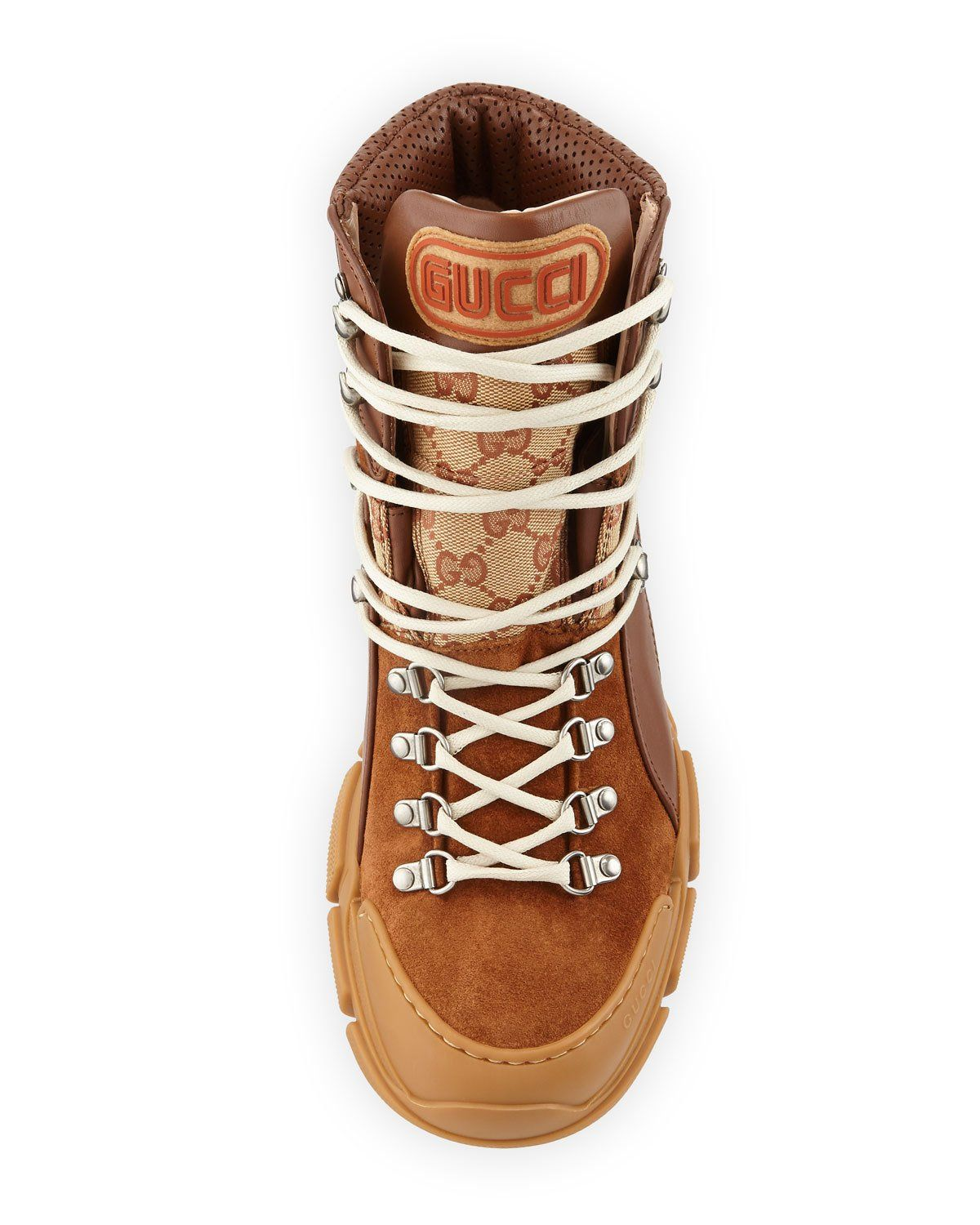 4be17c579 Gucci Men's Trekking Leather & Original GG Hiker Boot | Products ...