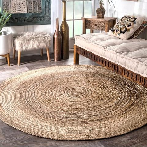 10mm 3 50m Natural Jute Ropes Twine Natural Hemp Cord Diy Nordic Home Handmade Jute Area Rugs Jute Round Rug Natural Jute Rug