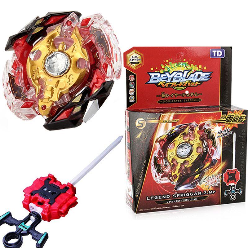 Beyblade Burst Starter B 86 Legende Spriggan 7 Mr Beyblades Mit Launcher Stater Set Hohe Leistung Kampfen Top Beyblade Toys Toys Beyblade Burst