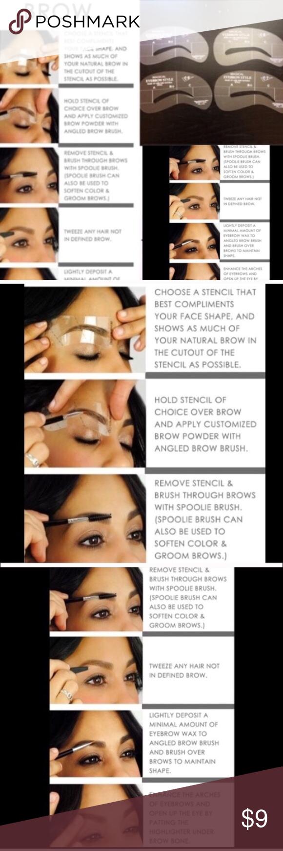 4 Pcs Eyebrow Stencils Brand New Listing Includes Four Eyebrow