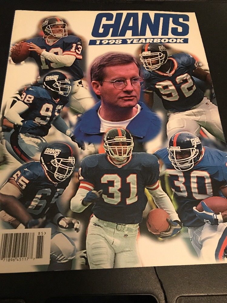 more photos 4986e 4abdf 1998 NEW YORK Giants OFFICIAL TEAM YEARBOOK NFL | eBay | New ...
