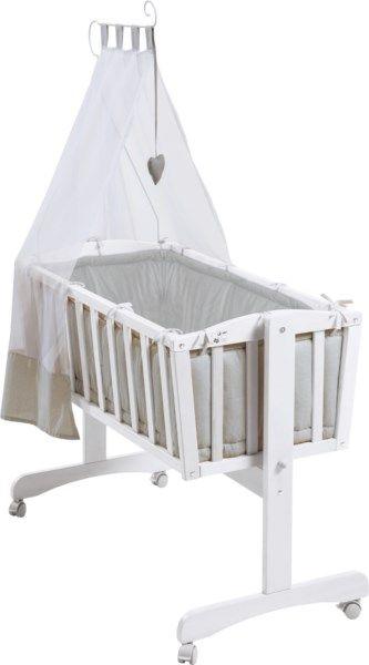 Berceau Roba Blanc Et Gris Parure De Lit Enfant Amenagement Chambre Bebe Berceau
