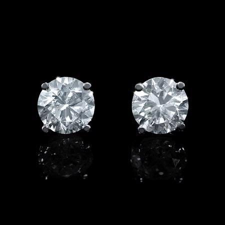 1 33ct Diamond 14k White Gold Stud Earrings Diamond Jewelry Gifts 14k White Gold Stud Earrings Diamond