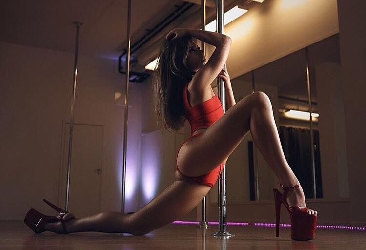Elegant Female Dancing Striptease Dance Stock Image