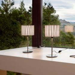 Photo of Arturo Alvarez Designer-Tischleuchte Curvas beige Curvas Cv01 beige Kabel transparentWohnlicht.com