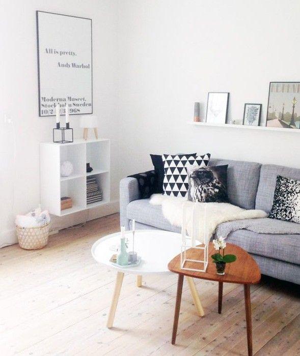 Een Scandinavisch interieur is helemaal van nu. Eenvoud, strakke ...