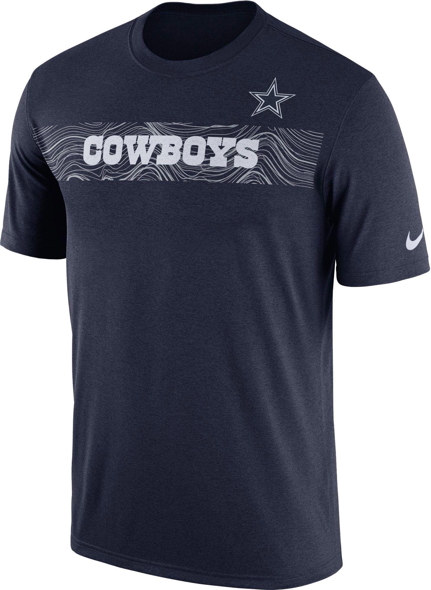34e2a7d959e Nike Men s Dallas Sideline Seismic Legend Performance Navy T-Shirt ...