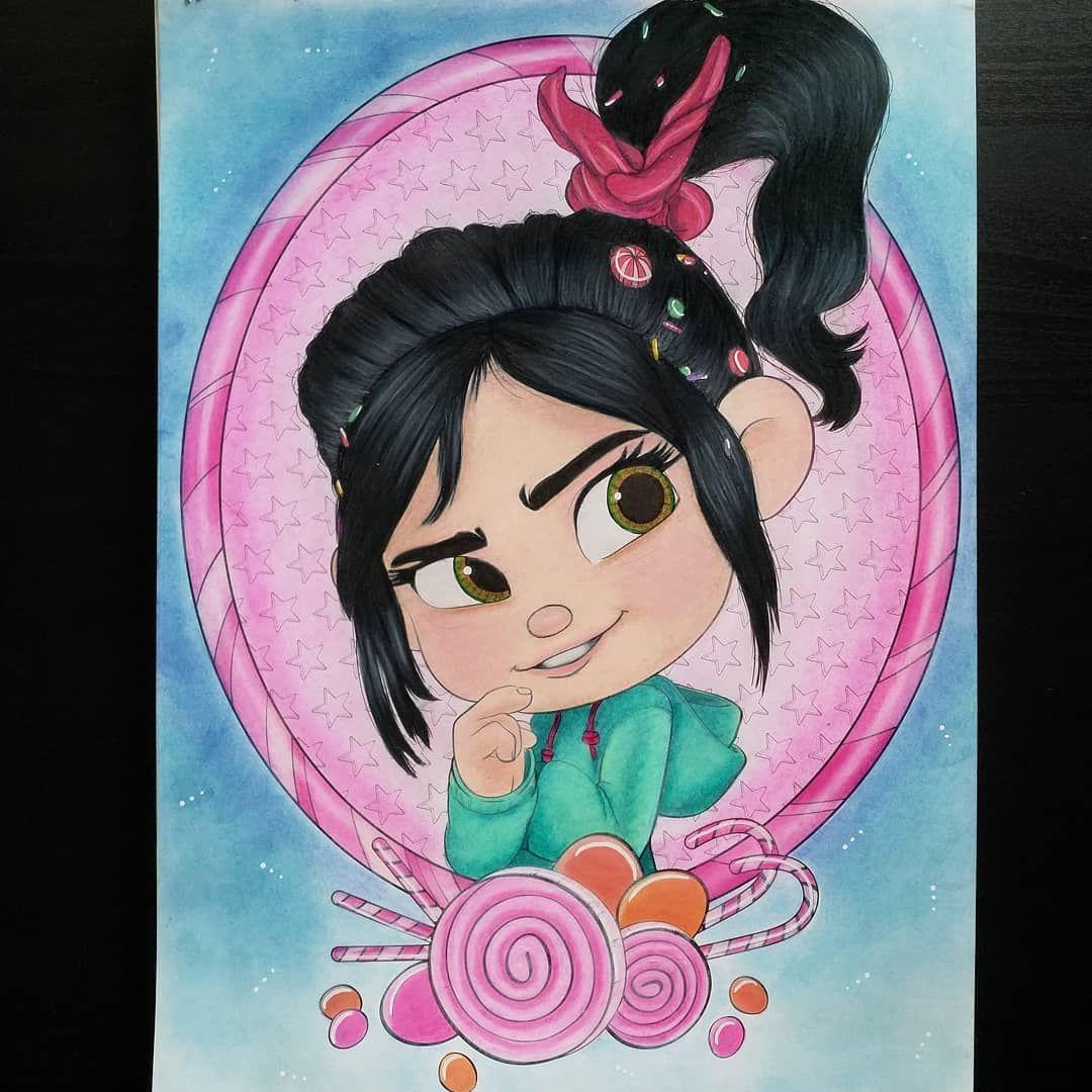 """Les Mondes de Ralph 💪, coloriage issu du livre """"Disney Portrait"""
