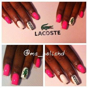 Lacoste Nails, that\u0027s talent! ms_polishd on Instagram