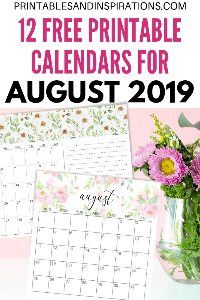 August 2019 Calendar PDF  Free Printable is part of Free printable monthly planner, Planner calendar printables, Calendar pdf, 2019 calendar, Calendar printables, Monthly calendar printable - Free Printable August 2019 Calendar PDF  plus more free 2019 monthly calendars  Get your free download now! printablesandinspirations freeprintable