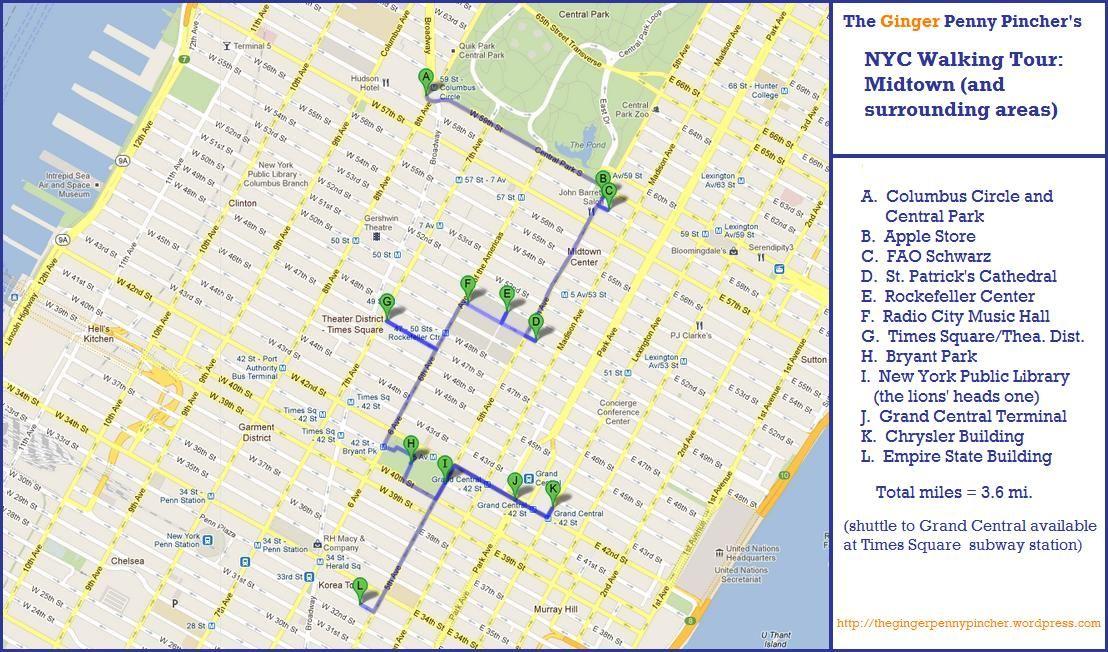 Walking Map Of Manhattan interactive tour walking maps of manhattan | Click on this image
