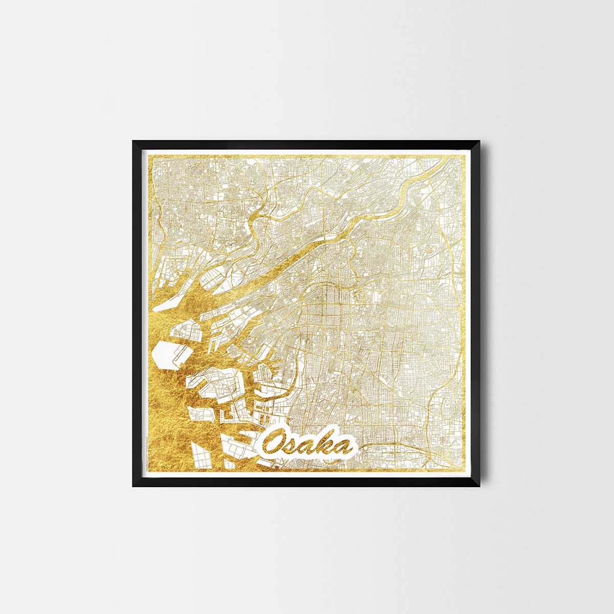 Osaka Map Art City Poster Unique Interior Decor Idea For Offices Art Posters Or Kitchen Art Prints Minimalist City Art Gifts For Travelers As Framed Art
