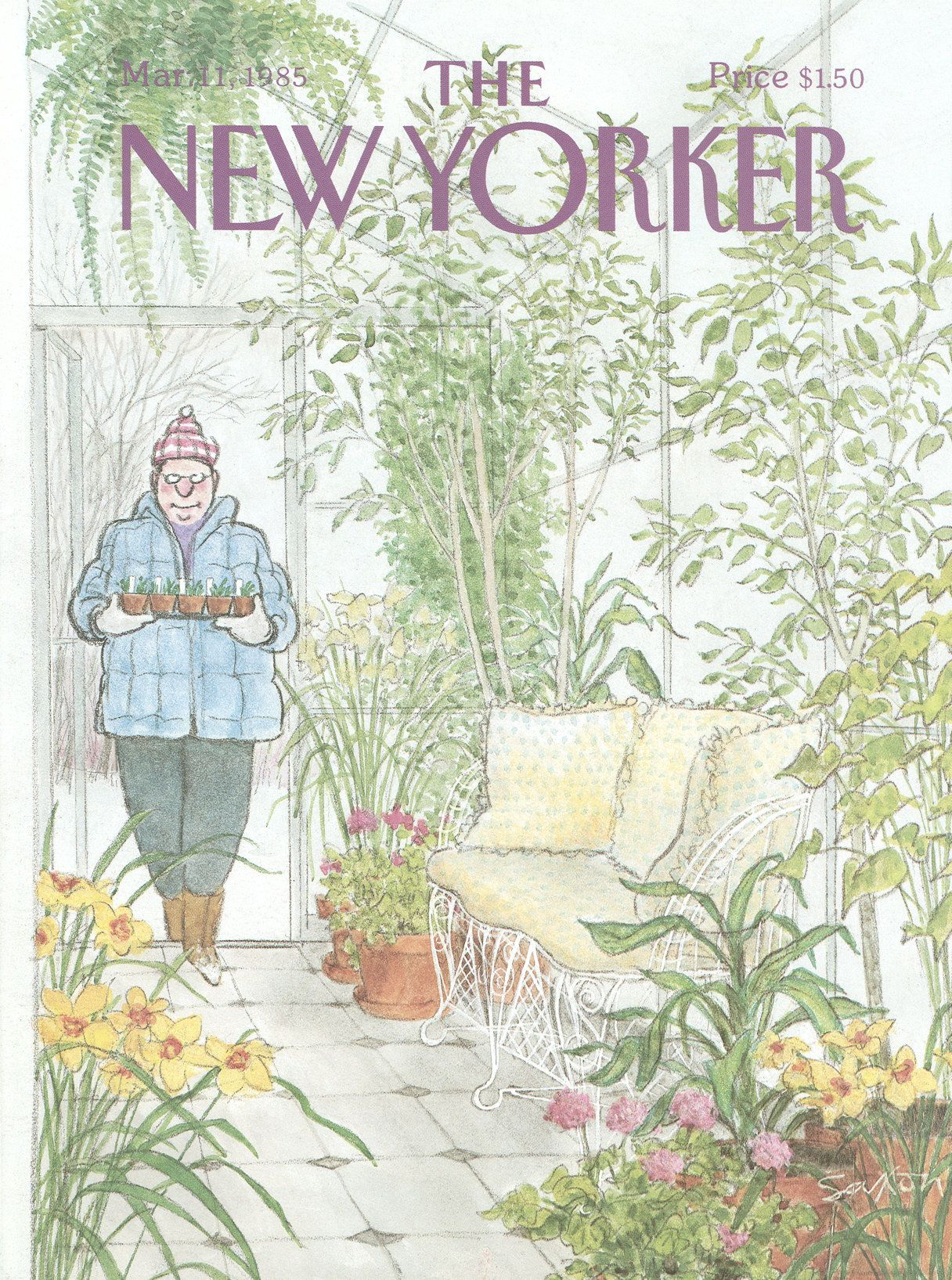 The New Yorker - Monday, March 11, 1985 - Issue # 3134 - Vol. 61 - N° 3 - Cover by : Charles Saxon
