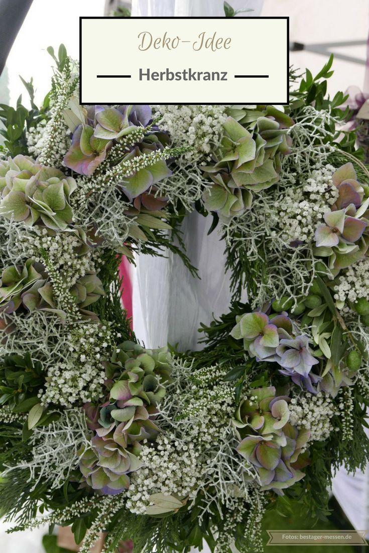 deko idee herbstkranz und florales dekoherz mehr ideen wochenendtipps geschenkideen. Black Bedroom Furniture Sets. Home Design Ideas