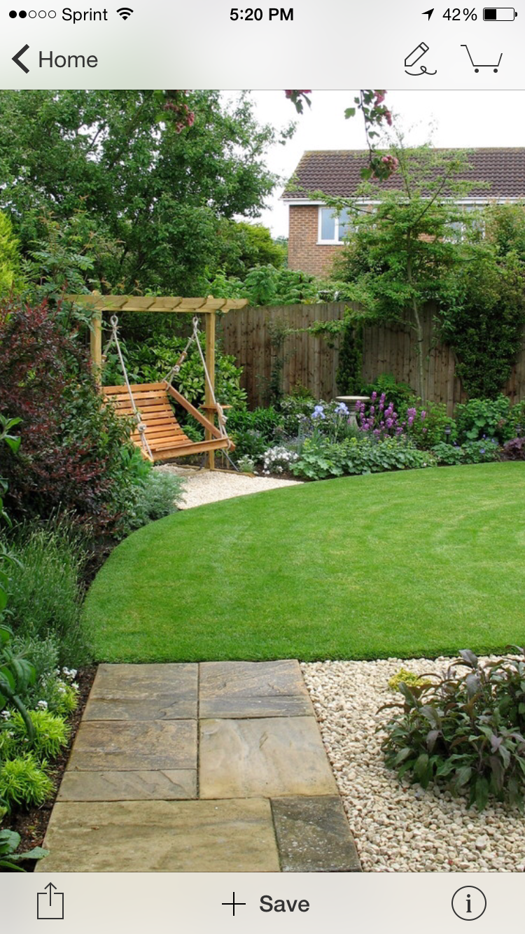 I Like The Path And The Swing In The Corner. Landscaping Design, Front  Garden