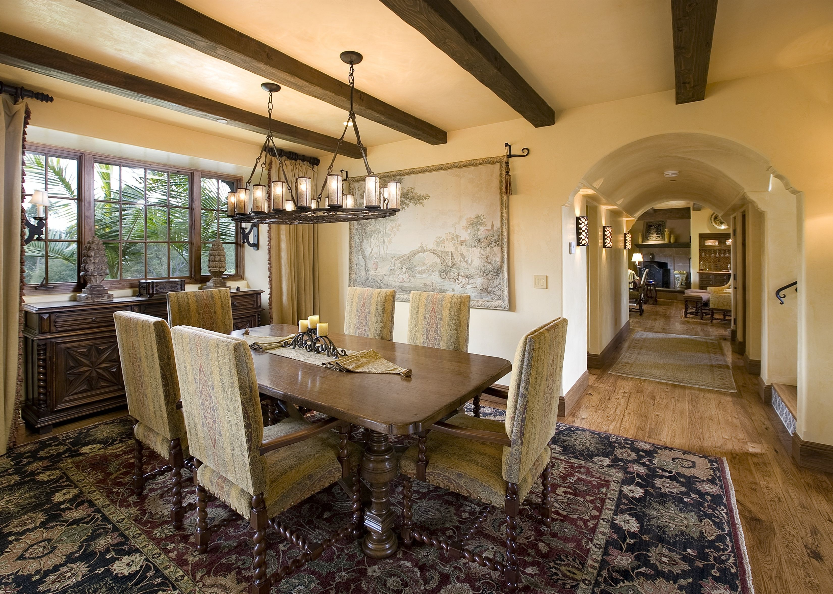 About Mediterranean dining room design ideas, this house ...