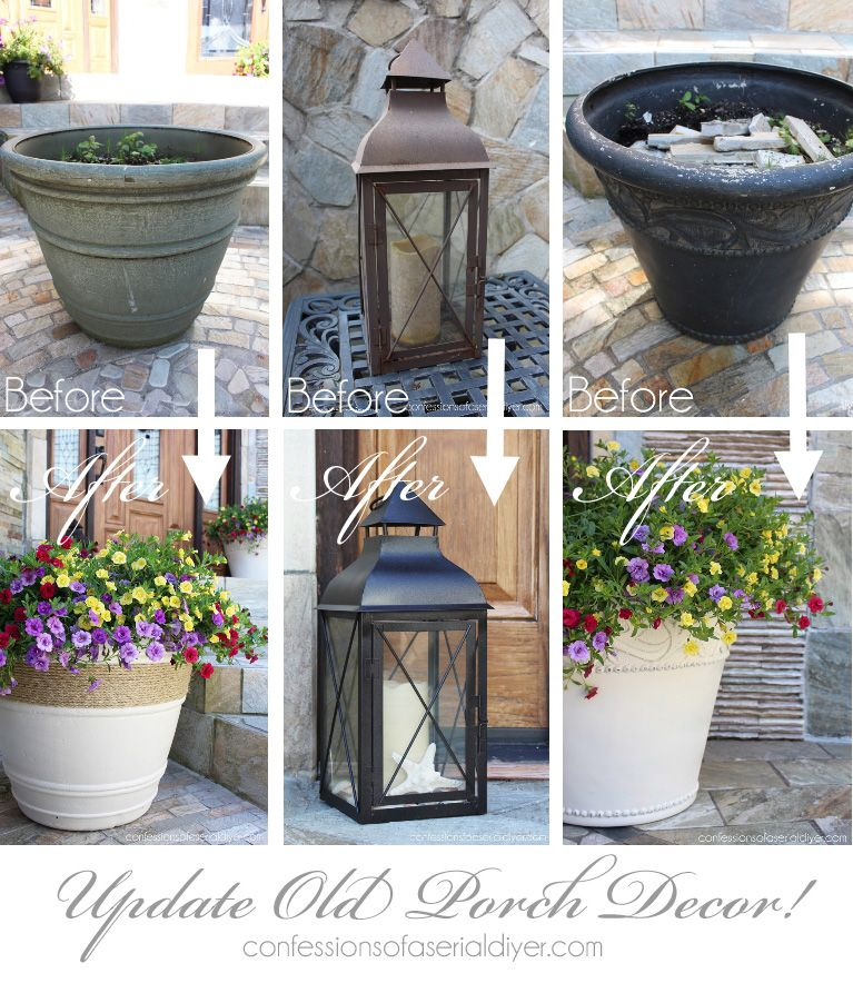 Backyard Ideas For Spring Decorating 6 Tips To Make: Plastic Planters, Container