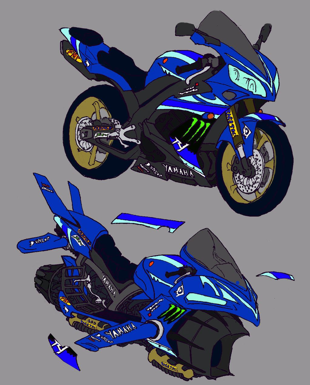 hover bike concept with decalsknosis.deviantart on